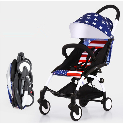 Fashion hot mom stroller quality luxury but cheap price baby carriages prams portable Light folding children european stroller(China (Mainland))