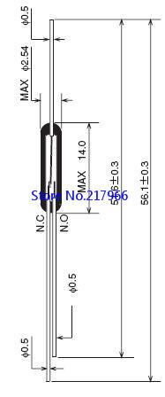 100 шт. японское качество OKI reed первое нормально открытое Закрыто: ORT551 три фута aeProduct.getSubject()