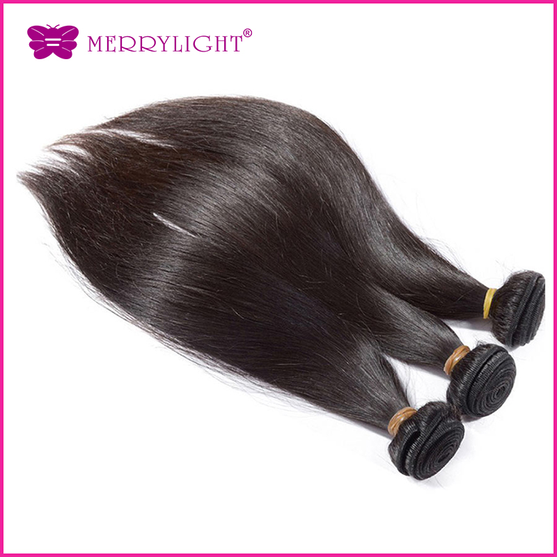 3 Pcs/lot mix Size Brazilian Virgin Hair Straight Natural Human Silky Hair Weave sales Unprocessed Virgin Hair Free Shipping