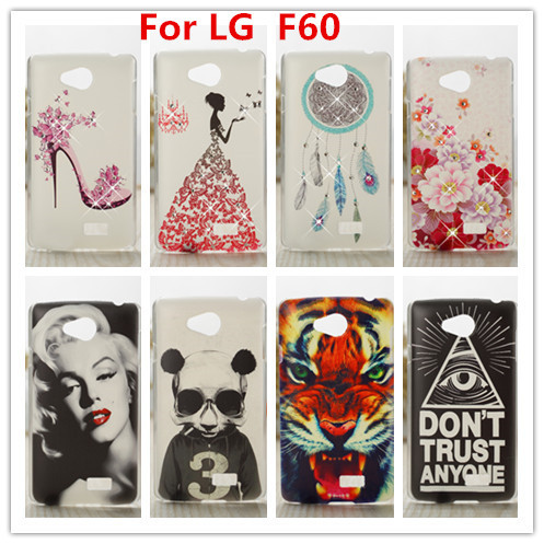 For LG F60 Case /Luxury Crystal Diamond 3D Bling Hard Plastic Case Cover For LG Tribute LS660 Optimus F60 Cell Phone Case(China (Mainland))