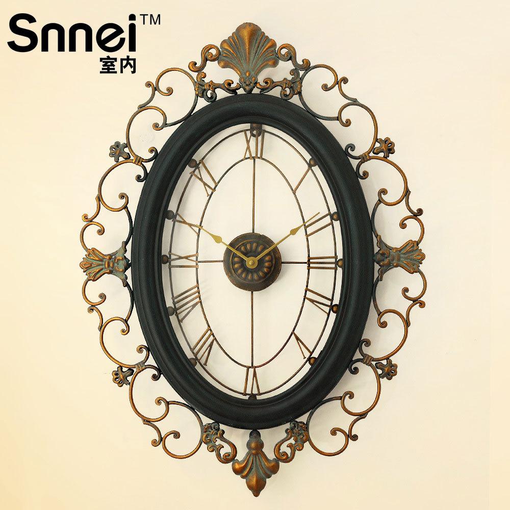 rhombus snnei indoor wrought iron wall clock big wall
