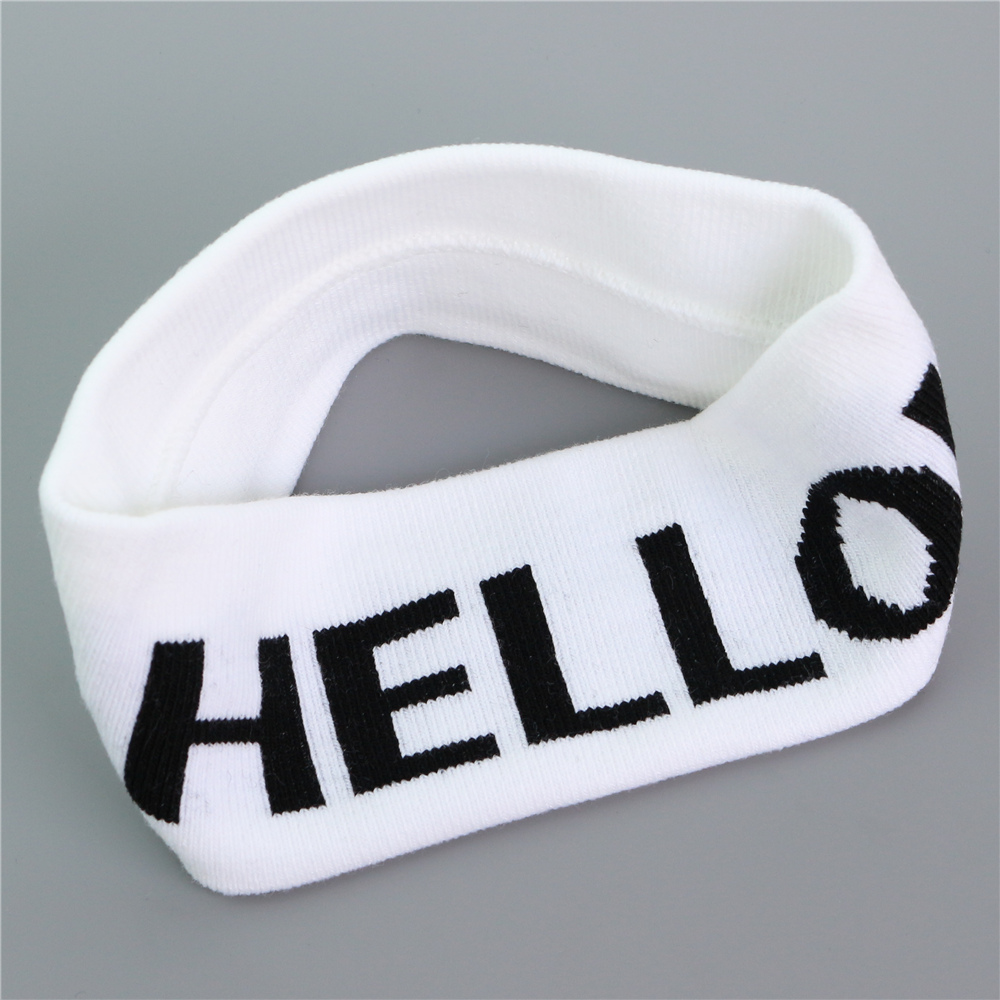 knit elastic wide HELLO/Stars and Stripes 2016 adult cool men or woman girls black/white/blue/red head band TD0720(China (Mainland))