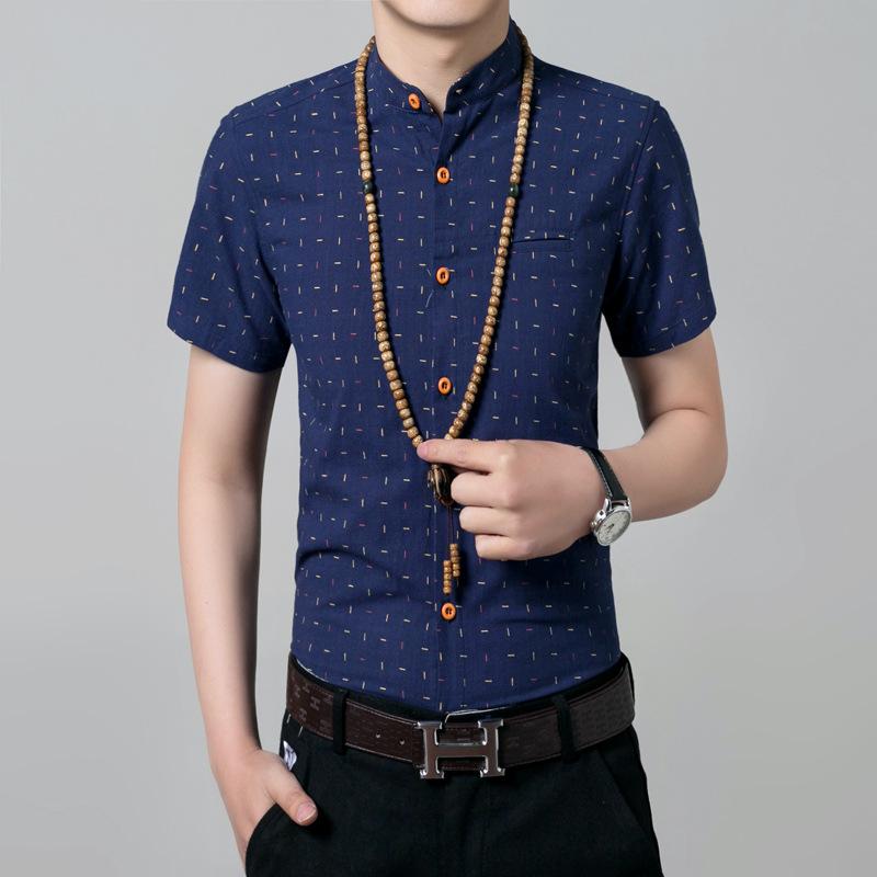 2016 Brand New Men Shirt Male Dress Shirts Men's Fashion Casual short Sleeve Business fashion Shirt camisa social masculina(China (Mainland))