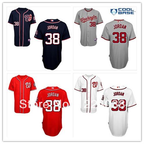 Cheap 2014 Stitched Men's Baseball Jersey Washington Nationals #38 Taylor Jordan Cool Base Jersey,Embroidery Logos Size:48-56(China (Mainland))