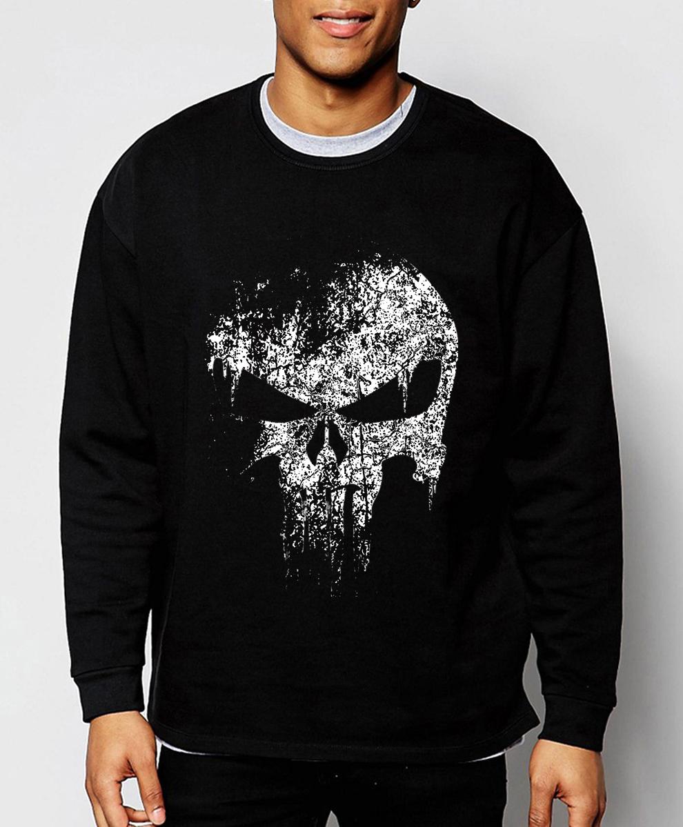 The Punisher Skull Men fashion men sweatshirt Supper Hero new autumn winter cool hoodies hip hop tracksuit sport brand clothing(China (Mainland))
