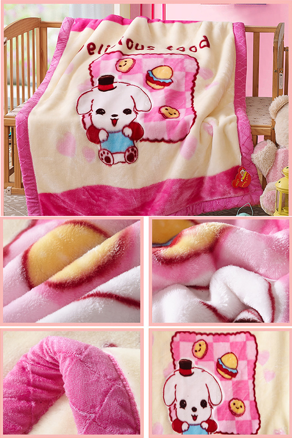 Pink Free shipping Coral fleece Baby Blanket Newborn Super Soft Cartoon Blankets Baby Hooded Bathrobe Bath Towel Baby Blanket(China (Mainland))