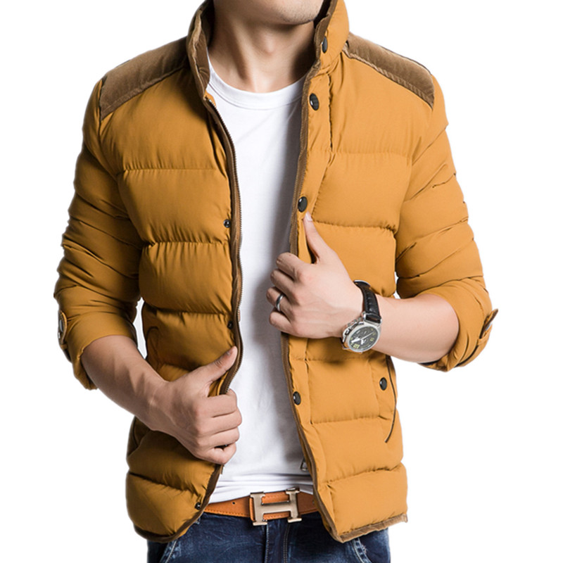 Cotton-padded jacket plus size male wadded winter slim stand collar outerwear - Online Store 737589 store