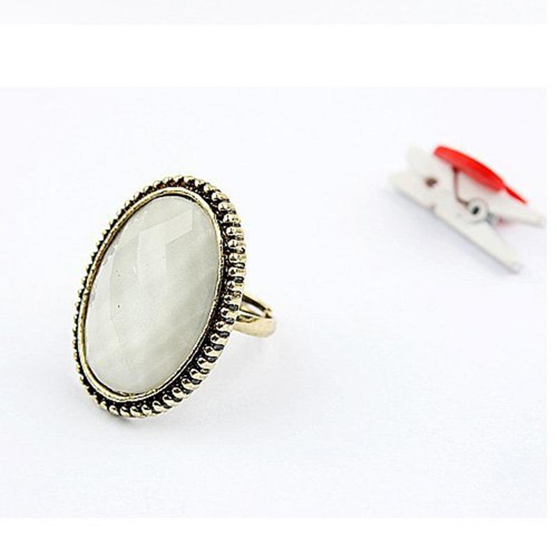 cheap adjustable open ring wholesale vintage oval gem