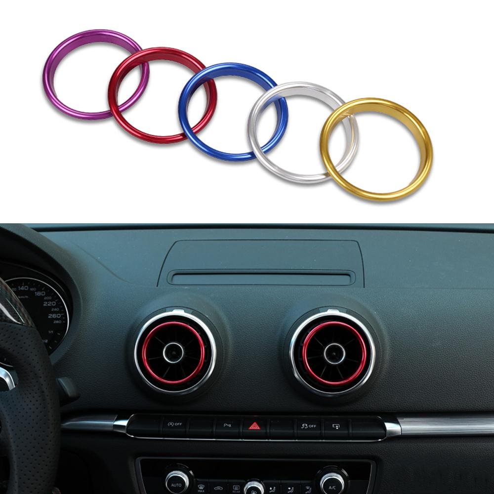 4 Pcs/Set Car Styling Air Conditioning Outlet Decorative Sequin Frame For Audi A3 3th Sedan Cabriolet Sportback S3 2013-2016(China (Mainland))