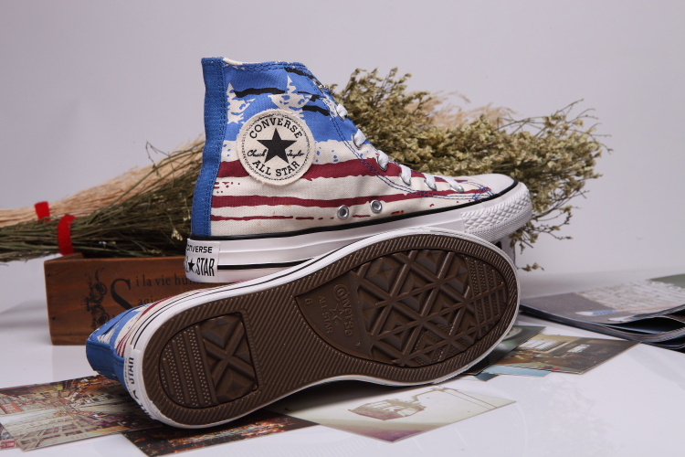Converse Men And Women Unisex Fashion Usa Flag Sneakers,Canvas Shoes,Size 36-44(China (Mainland))