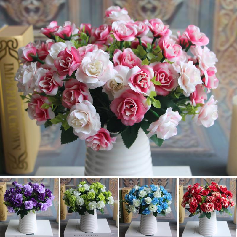 Austin Ramo 15 cabezas de Primavera de Flores De Seda Artificial Rose Decoración de La Boda Decoración Floral Planta MariageParty Arreglo Floral(China (Mainland))