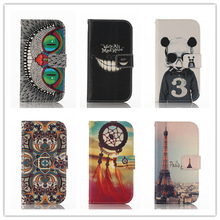 Fashion Painted Wallet Cover PU Leather Flip Case For Samsung Galaxy S5 SV I9600 Mobile Phone Cases With Stand Function PY(China (Mainland))