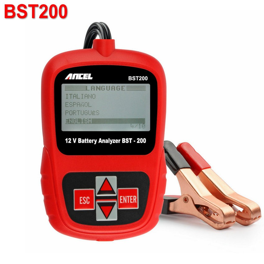 Original Ancel BST200 BST-200 BST100 Upgrade Version Car Battery Tester 12V Automotive Auto with Portable Design
