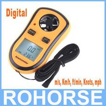 Digital Pocket termómetro anemómetro velocidad viento Meter tacómetro del metro De prueba Contagiros De Rpm De flujo De aire