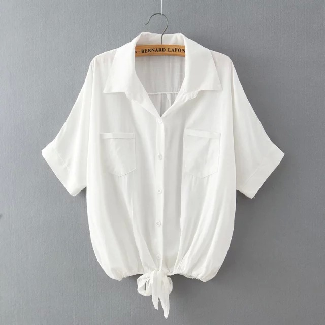 Popular White Tie Front Shirt Buy Cheap White Tie Front