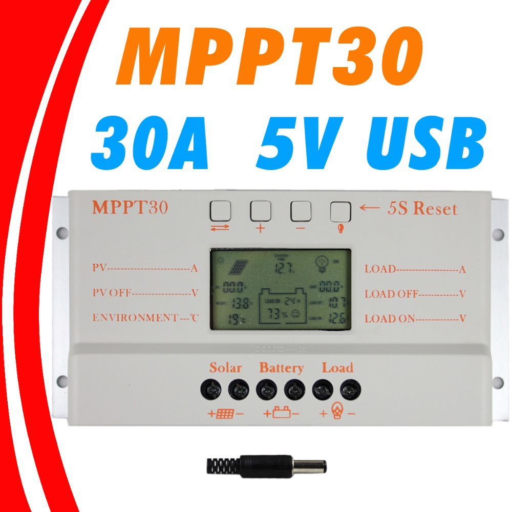 MPPT 30A LCD Solar Charge controller 12V 24V auto switch LCD display MPPT30 Solar charge controller MPPT 30 charger controller(China (Mainland))