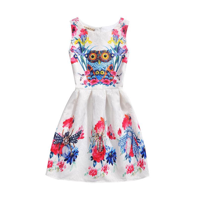 Teenage girl dress girls dress monsoon girls owl parrot printed dress