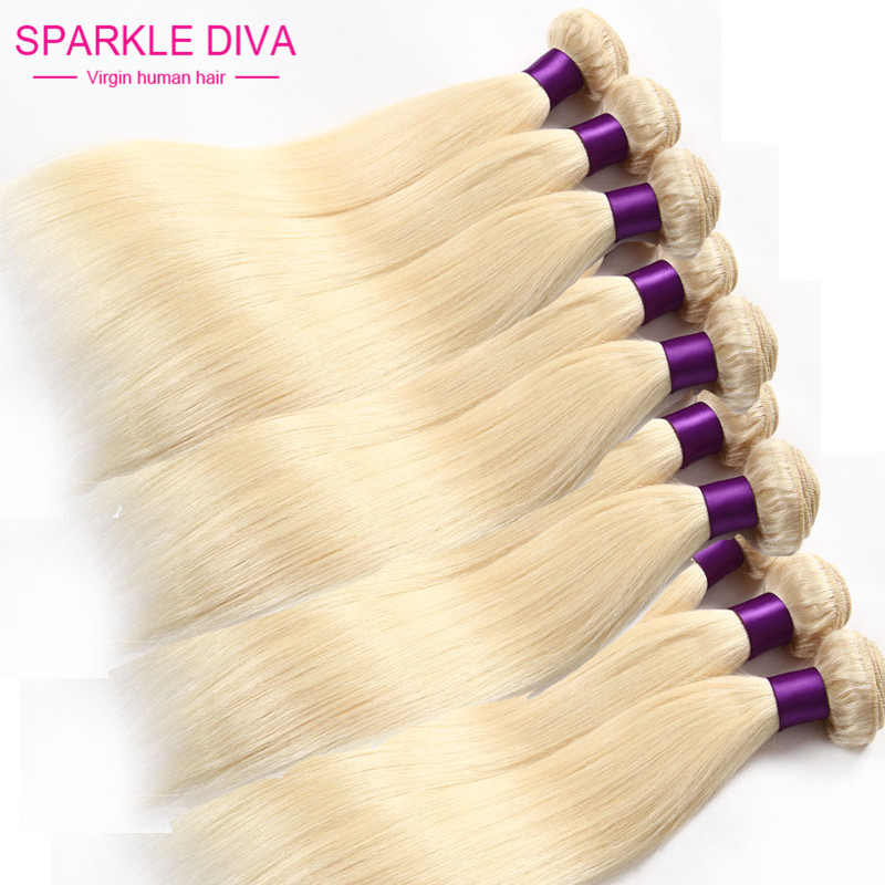 Brazilian Virgin Hair Straight 10 Pcs Lot Color 613 Blonde Virgin Hair Weaves 12-24 inch Blonde Hair Extensions<br><br>Aliexpress