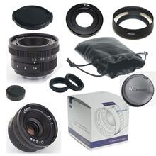 GOOD 25mm f/1.4 mirroless for APS-C Camera Nikon 1 Samsung NX+C-Nikon1 adapter+lens hood+Macro Ring*2+for Nikon 1 lens rear cap(China (Mainland))