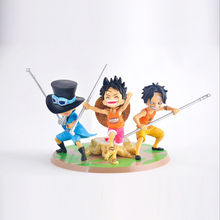 New Japan one piece childhood three brothers Luffy Sabo Ace pvc action figure kawaii model toy cartoon brinquedos juguetes