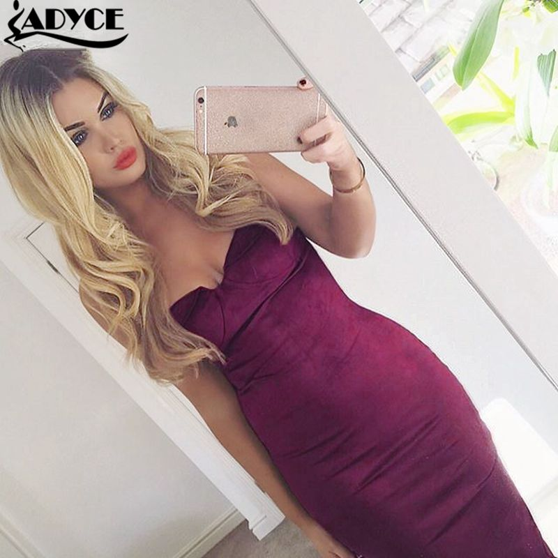 2015 candy color 3 color gray wine white sexy strapless sleeveless off the shoulder knee-length solid elegant bandage dresses от Aliexpress INT
