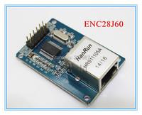 ENC28J60 LAN Ethernet Network Board Module for arduino 25MHZ Crystal AVR 51 LPC STM32 3.3V free shipping