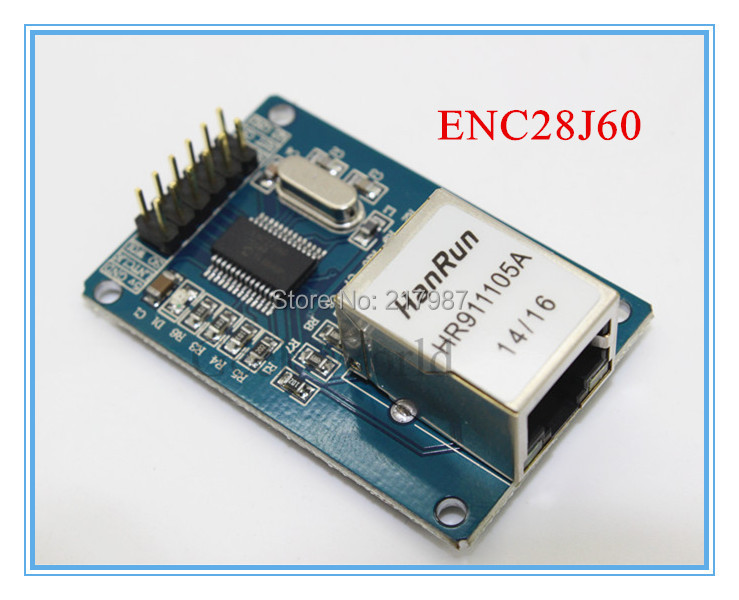 ENC28J60 LAN Ethernet Network Board Module for arduino 25MHZ Crystal AVR 51 LPC STM32 3.3V free shipping(China (Mainland))