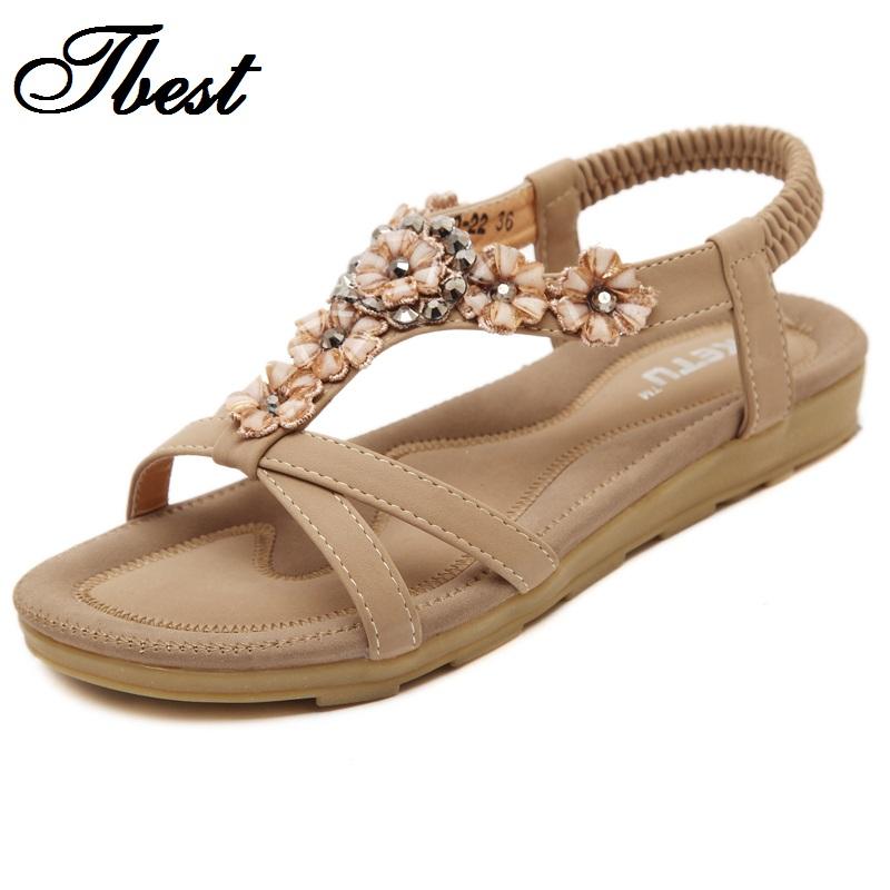 Flat Women Sandals Ankle T strap Fashion Trend Sandals ...