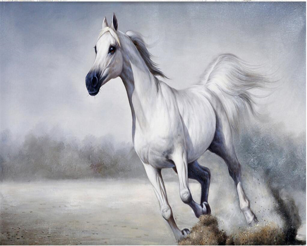 High quality running horses murals buy cheap running for Equestrian wall mural