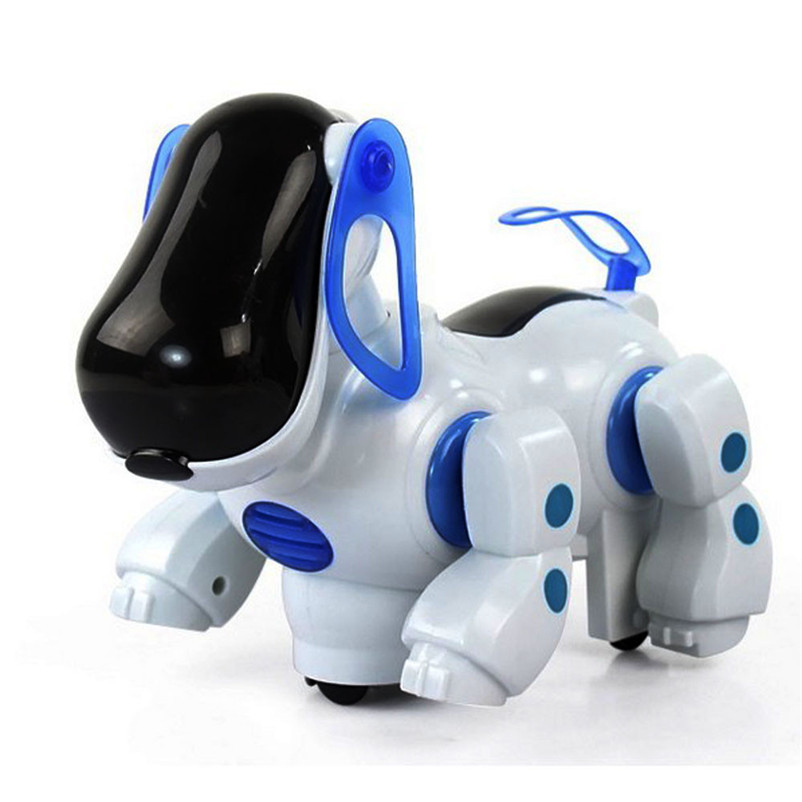 Robotic Electronic Walking Pet Dog Children Toy White Pink