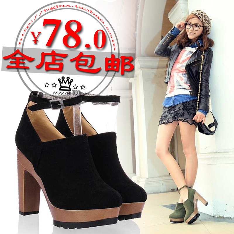 2012 spring summer women's high-heeled shoes thick heel platform single female - Online Store 808308 store