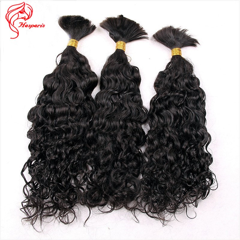 Top Quality Unprocessed Human Hair Bulk Virgin Brazilian Bulk Braiding Hair Extensions Curly Hair Style 3pc/lot Fast Shipping