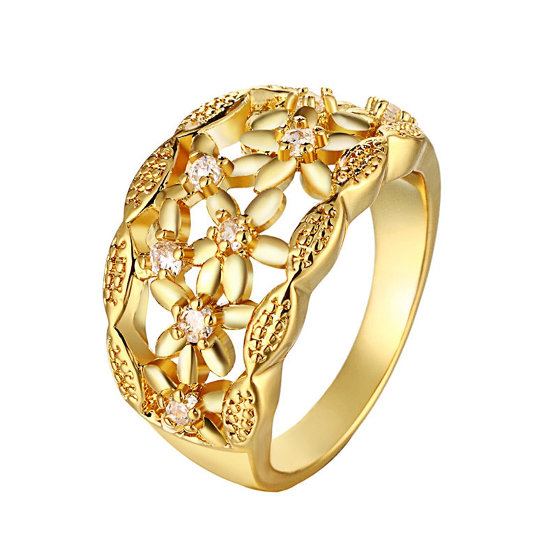 24k yellow gold rose gold plated rings for women for 24k gold wedding ring
