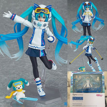 Anime Comic Game Hatsune Miku with pet Figma Levan Polkka Winter Clothese Version Action Figure Brinquedos Collectible Figurine