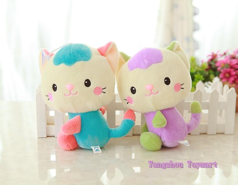 Long tail cute plush cat toy soft kids stuffed toys 18cm hot sale cheap price stuffed cats(China (Mainland))