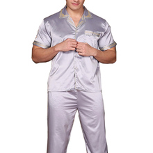 2016 new men's Short-sleeved Breathable pajamas   thin section A cool men's Comfortable casual summer Men's Pyjamas 62(China (Mainland))