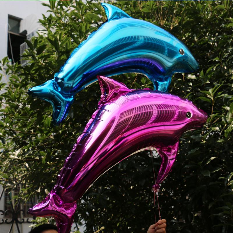 Dolphin aluminum foil balloon wedding birthday party wedding decorate decoration supplies aluminium balloons(China (Mainland))