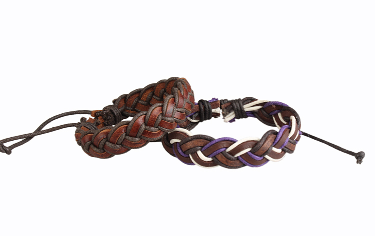 Lose money sales 2015 new hand woven genuine leather bracelet fashion handmade cowhide men women braided