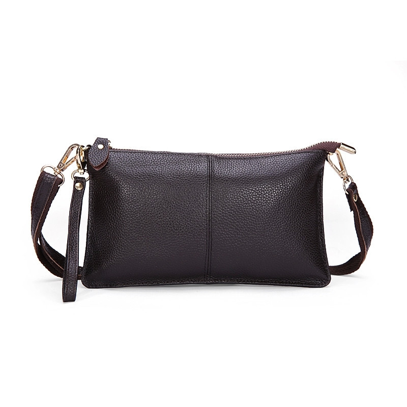 2015 top quality 100% genuine leather cowhide envelope women clutch bag evening bags party handbags cross body shoulder small(China (Mainland))