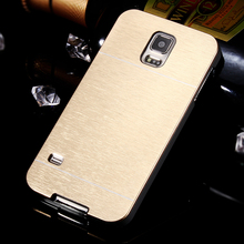 For S5 New! Deluxe Aluminum Hard Metal Back Case For Samsung Galaxy S5 i9600 On Sale Cool Ultra Slim Back Mobile Phone Cover Bag