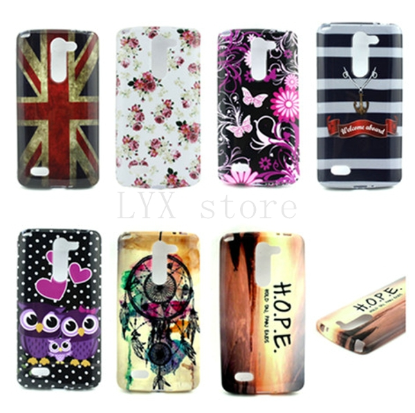 Hot Sale Heart Owl Drawing TPU Slim Skin Back Protective CoverFor LG D337 Soft Cell Phone Case(China (Mainland))