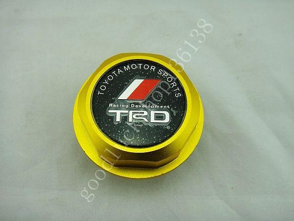 TRD Billet Aluminum Engine Oil Filler Cap Fuel Fill Tank Cover JDM GOLD V04(China (Mainland))