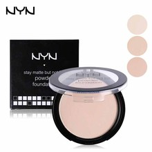 NYN Professional Powder Foundation Waterproof Oil-free Pressed Powder Base Cosmetics Concealer Contour Palette Mineral Makeup(China (Mainland))