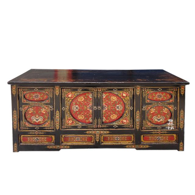 Tibetaanse stijl massief hout eettafel kast altaar chinese stijl antieke meubels in tibetaanse - Antieke stijl badkamer kast ...