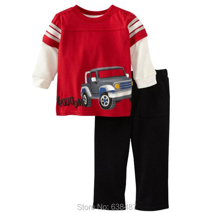2016 Brand Quality 100% Cotton Baby Boys Clothing Sets Children's Suit Kids Clothes Long Sleeve - JK Shop store