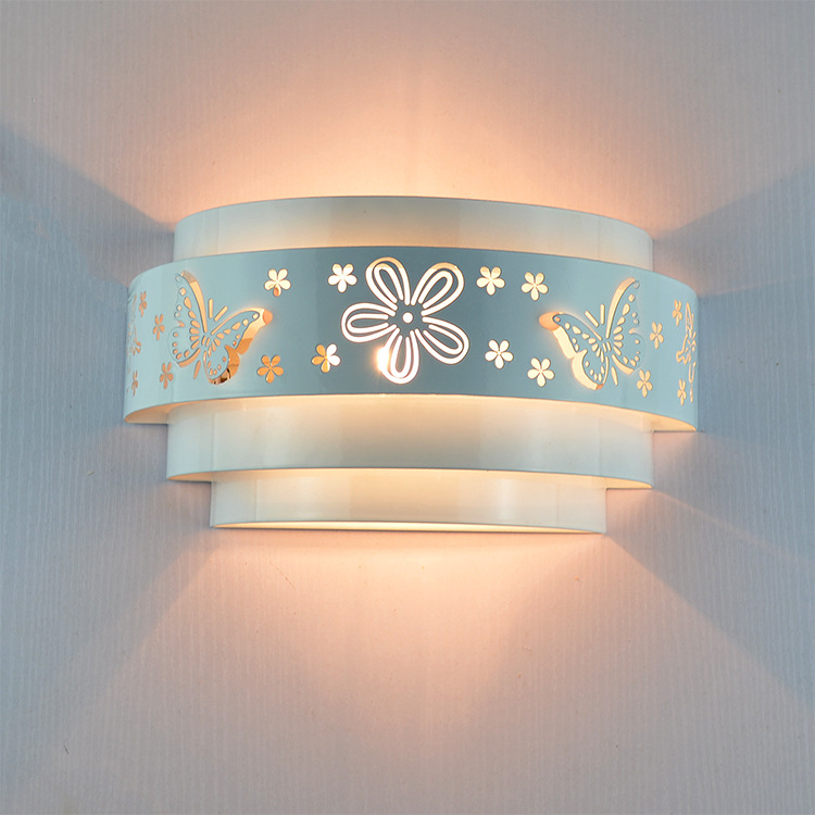 Morden wall lamps Minimalist butterfly flower carved LED E27 Wall light,white stereoscopic Iron cover mirror front /bedroom kits<br><br>Aliexpress