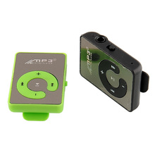 USB Mini Mirror Clip Mp3 Sport Music Player With TF-Card Slot Suppot Up To 8GB Green New Protable High Quality