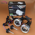 Universal HID Xenon Fog Lights Lens Projector With LED Angel Eyes Halo Front Driving Fog Lamps