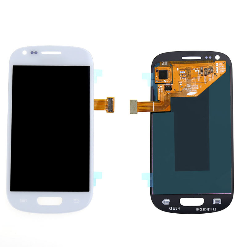 White For Samsung S3 Mini i8190 LCD Touch Screen Digitizer Assembly replacement Free shipping