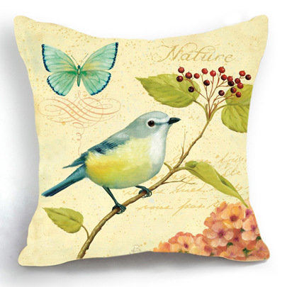 Coussin Pouf Bird Flower Butterfly Decorative Pillows Kussens Home Decor Seat Cushion Couch Almofada Car Decorativos Cojines